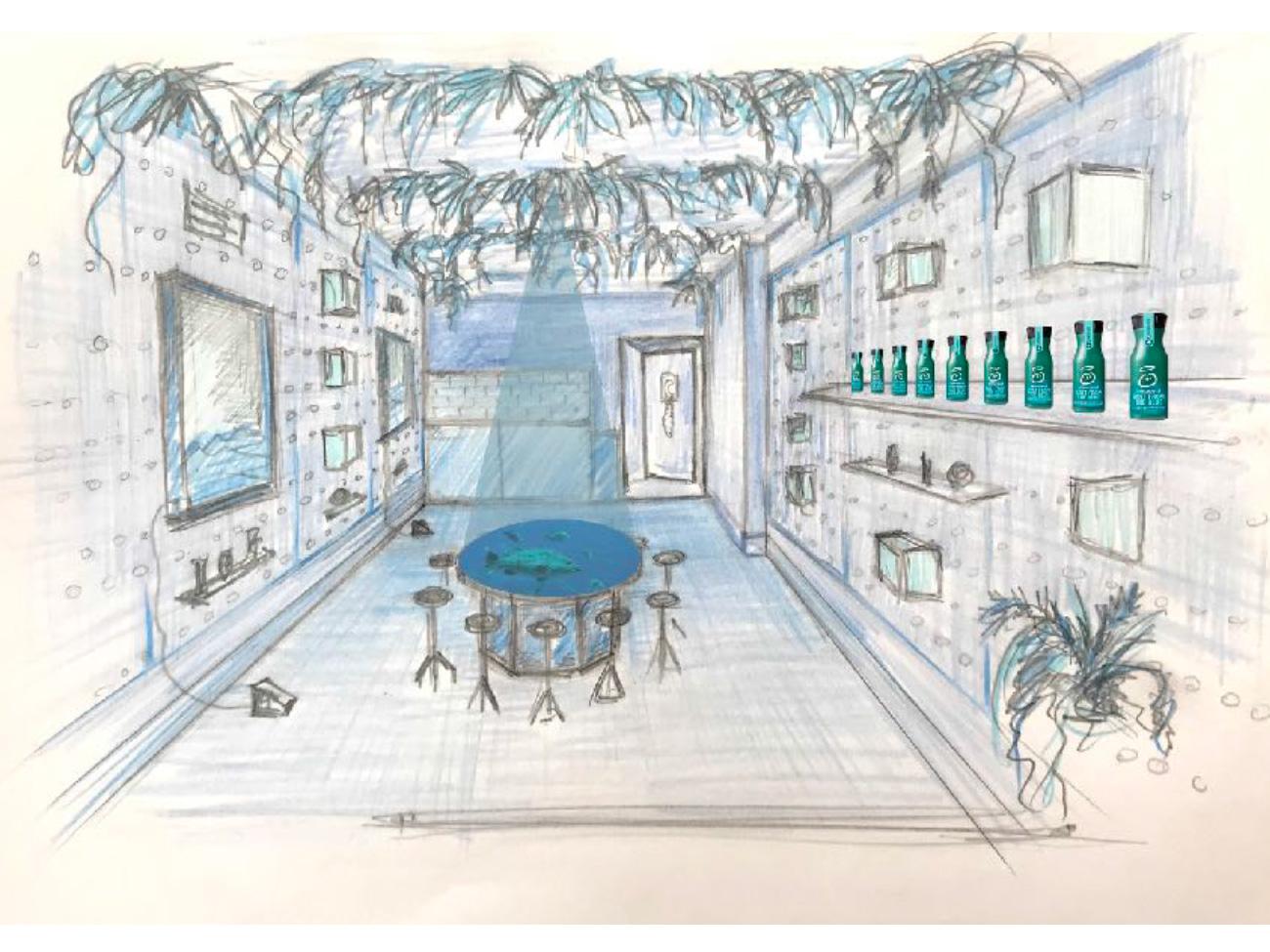 Blue Café Concept Helen Sirp Art Direction Set Design